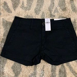 New American Eagle Black Shorts